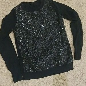Express Black Sequin Sweater